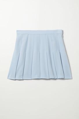 Weekday Check Short Pleated Skirt - Black