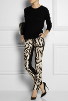 Diane von Furstenberg Mary animal-print wool-blend pants