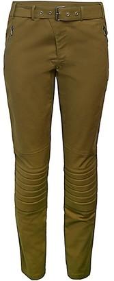 Alberta Ferretti Belted Moto Trousers