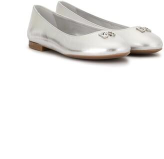 Dolce & Gabbana Logo-Plaque Ballerina Flats