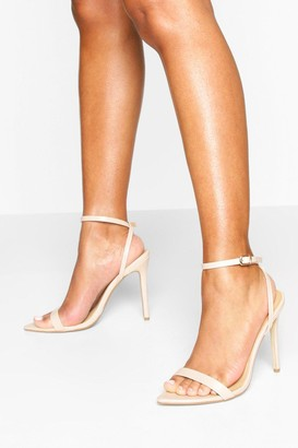 boohoo Pointed Toe Two Part Heel Sandals