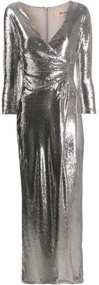 Blanca Vita Sequin Wrap-Style Dress