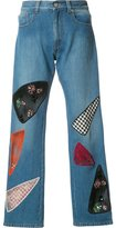 Christopher Kane patchwork jeans - women - Cotton - 24