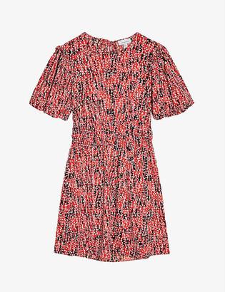 Topshop Abstract animal print crepe mini dress