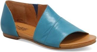 Miz Mooz Slip On Leather Open Toe Flats - Allegra