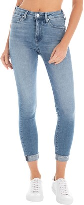 Fidelity Gwen High Waist Crop Raw Hem Skinny Jeans