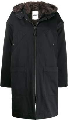 Yves Salomon Army hooded parka coat