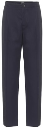 A.P.C. Amalfi cotton-crepe straight pants