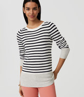 LOFT Stripe Banded Sweater