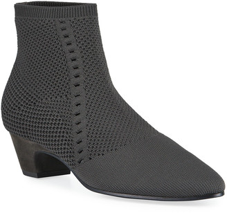 Eileen Fisher Purl Stretch-Knit Fabric Booties