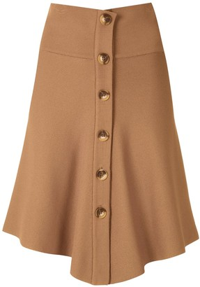 Egrey Knit Buttoned Mini Skirt
