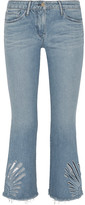 3x1 Freja Cropped Cutout High-rise Bootcut Jeans - Light denim