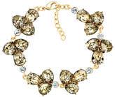Monet Glass Crystal Cluster Bracelet, Gold/Multi