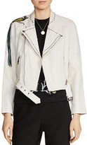 Maje Bently Embellished Leather Jacket