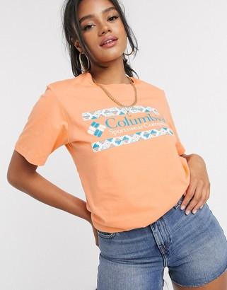 Columbia Rapid Ridge t-shirt in orange