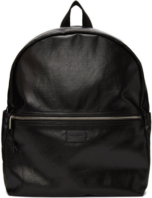 Saint Laurent Black Coated Canvas Nuxx Backpack