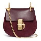 Chloé 'Drew' mini leather flap suede shoulder bag