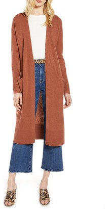 Halogen Wool & Cashmere Long Cardigan