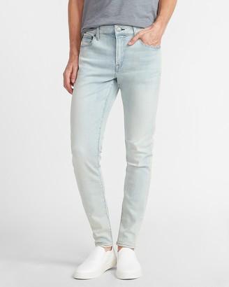Express Super Skinny Faded Light Wash Hyper Stretch Jeans