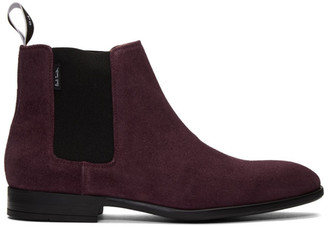 Paul Smith Burgundy Suede Gerald Chelsea Boots