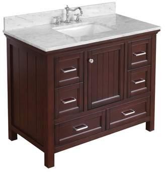 "Paige Kitchen Bath Collection 42"" Single Bathroom Vanity Set Kitchen Bath Collection Base Finish: Chocolate"