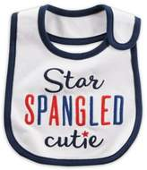 "Carter's âStar Spangled Cutie"" Bib in White"