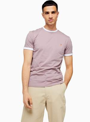 Farah TopmanTopman Purple Ringer Groves T-Shirt *
