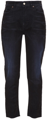 IRO Ronja Distressed High-rise Tapered Jeans