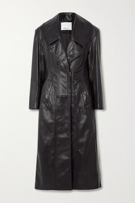 3.1 Phillip Lim Zip-detailed Paneled Leather Coat - Black