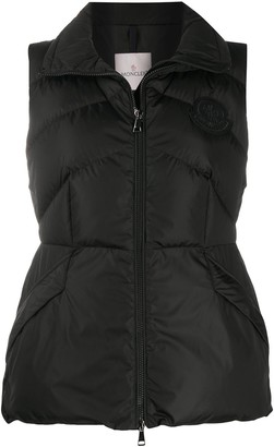 Moncler Flared Waist Quilted Gilet