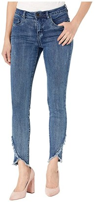 FDJ French Dressing Jeans Olivia Slim Ankle with Tulip Hem and Frayed Details in Splendid Indigo