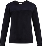 Valentino Contrast-knit Crew-neck Sweater