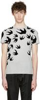 McQ by Alexander McQueen Grey Swallows T-Shirt