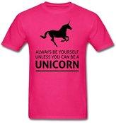 Teelife Top Fashion Men's Always Be Yourself T-Shirt Pink