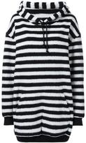 A.F.Vandevorst oversized striped hoodie - women - Polyamide/Polyester/Wool - XS