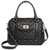 Merona Women's Quilted Crossbody Faux Leather Handbag