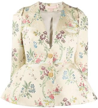 Brock Collection Floral-Jacquard Jacket