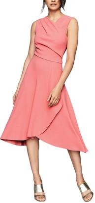 Reiss Marling Wrap Front Midi Dress