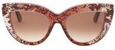 Valentino Women&s Lace Cat Eye Sunglasses