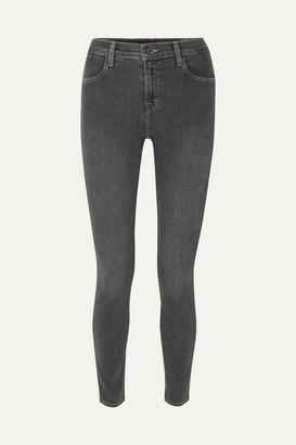 J Brand Maria High-rise Skinny Jeans - Gray