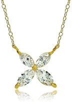 Lord & Taylor Cubic Zirconia Flower Pendant Necklace