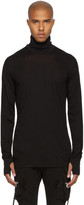 11 By Boris Bidjan Saberi Black Cotton and Cashmere Turtleneck