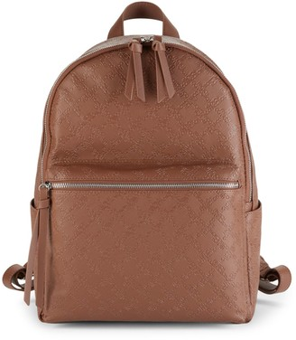 French Connection Marin Embossed Faux Leather Backpack