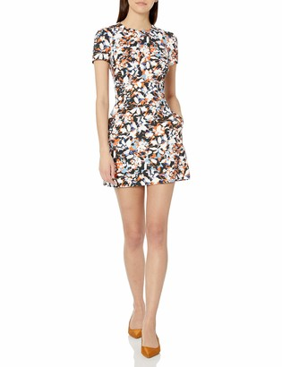 French Connection Women's Floral Printed Short Sleeve Dress