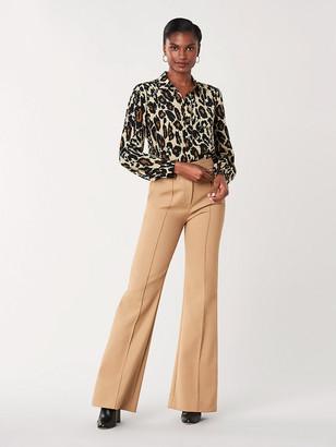 Diane von Furstenberg Mariah Silk Crepe de Chine Shirt