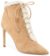 Made In Italy Suede Lace Up Booties