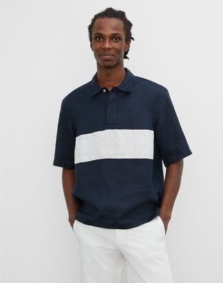 Club Monaco Short Sleeve Colorblock Shirt