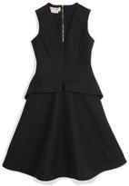Marni Woven Cotton Flap Pocket A-Line Dress