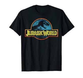 Fossil Jurassic World Colorful Tropical Theme Park Logo T-Shirt