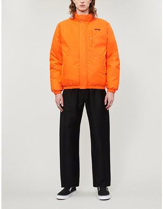 Schott Funnel-neck padded cotton-blend jacket